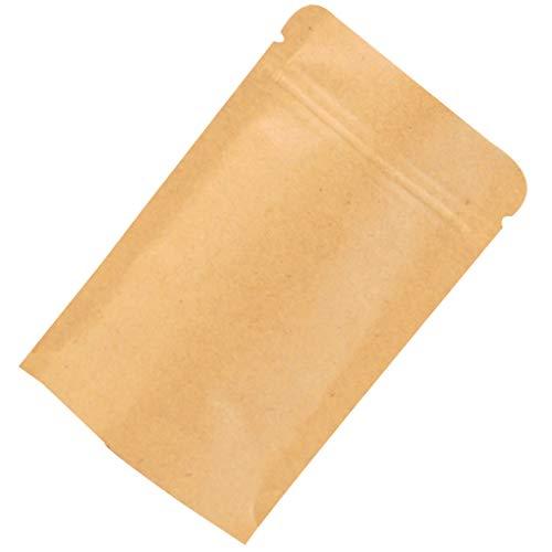 Vokmon 10pcs wiederverschließbaren Solid Color Kraft Paper Folien-Beutel Up Heat Seal Food Grade Beutel-Standplatz