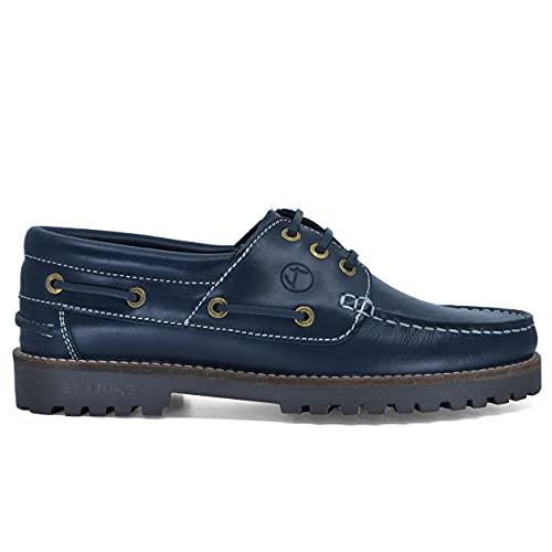 Zapatos Náuticos Seajure Lubmin Cuero Azul Marino Hombre (Numeric_45)