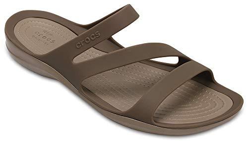 Crocs Women's Swiftwater Sandal Sport, Walnut, 10 M US