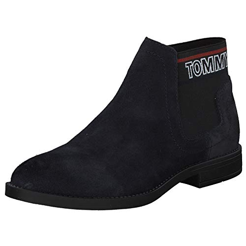 Tommy Hilfiger Damen Corporate Elastic Chelsea Boot Stiefeletten, Blau (Midnight 403), 39 EU