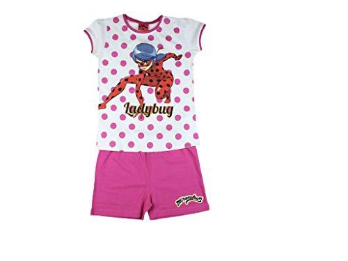 Miraculous Ladybug - Pijama corto rosa 116 cm