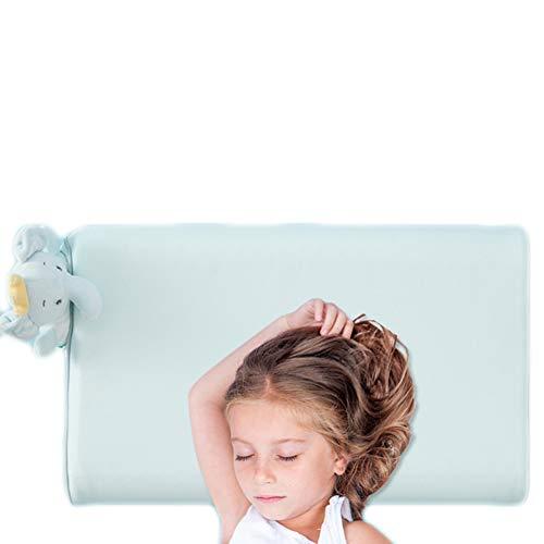 JUNBABY Oreiller Formant la tête de bébé, Coussin réglable pour Le Cou, pour Poussette, siège Auto, Design Ergonomique, Lavable, Taie d'oreiller-Green-M