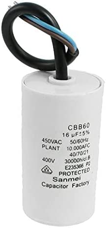 LANGPIAOEZU CBB60 450VAC 16uF 5% Capacitor Terminal Mail SEAL limited product order Wired Motor