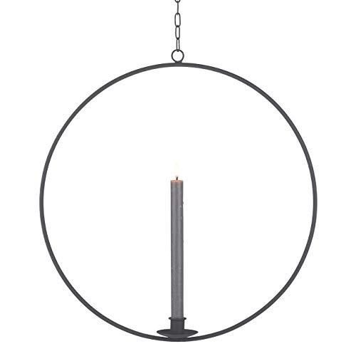 Gift Company Ring, Kerzenhalter zum Hängen, M, schwarz