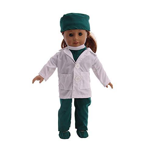 Veroda Doctor / Nurse Uniform Set Coat Shoes Hat Socks for 18'' American...
