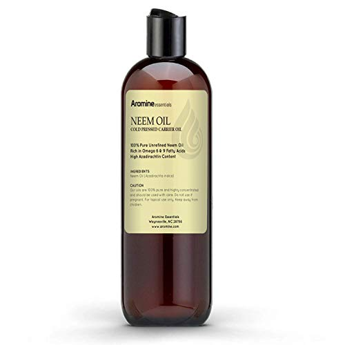 Neem Oil, 100% Pure Cold Pressed for Skincare, Hair care and Plants (4oz)