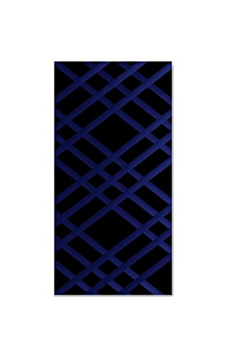 """Bulletin-Memo Board and Picture Frame: Black and Blue (Slim (9"""" x 24""""))"""