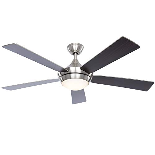 commercial Fanimation Studio Aire Drop Collection 52inch Brushed Nickel LED Ceiling Fan For Indoors fanimation ceiling fans