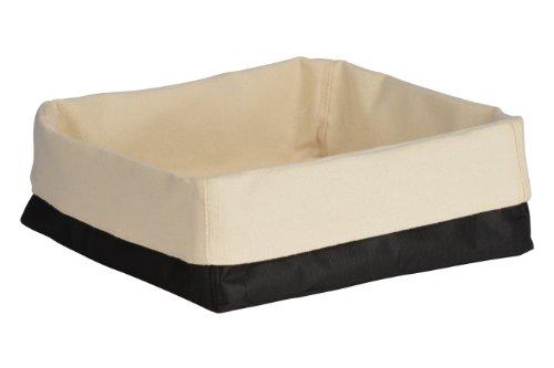 Premier Housewares 1901100 Panier à Pain en Polyester/Coton Crème/Noir