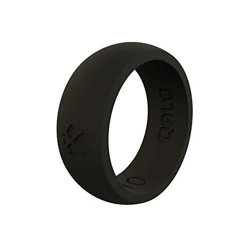 QALO Men's Black Classic Q Q2X Silicone Ring Size 08