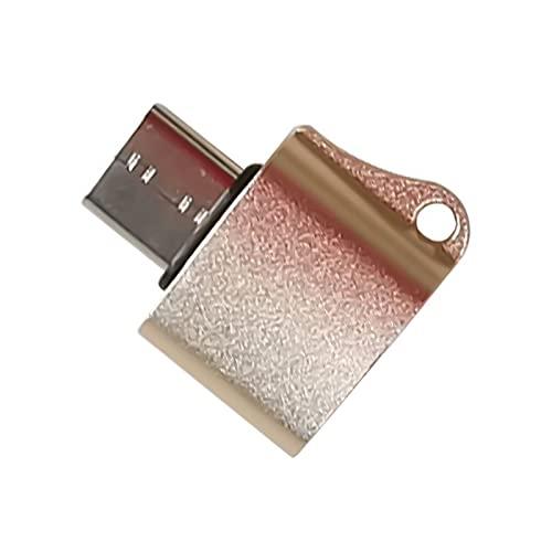 NXACETN Tipo-c Al Adaptador del Cargador del USB, Mini Adaptador De Carga del Convertidor De Carga del Teléfono De La Transmisión De Datos del USB 2.0 Mini Dorado Talla única