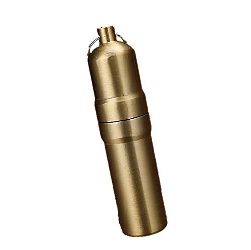 携帯 タバコケース ピルケース 防水ケース 薬ケース マッチ シガレットケース キーホルダー アルミ 5本 10本 (03 ゴールド, 5本)