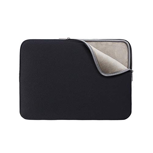 RAINYEAR 13 Inch Laptop Sleeve Protective Soft Lining Case Cover Bag Compatible with 13.3 MacBook Pro Air Retina Touch Bar for 13' Notebook Computer Ultrabook Chromebook(Black,Upgraded Version)