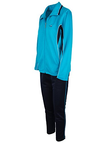 SOUNON Damen Baumwolle Trainingsanzug, Jogginganzug, Sportanzug, Freizeitanzug, Hausanzug (Model 2) - Türkis, Groesse: XXL