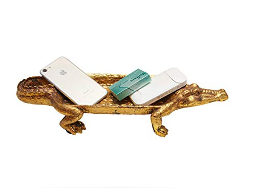 IUYT Adornos Coleccionables Decoración Riqueza ResinaColumpio Crocodile Colección Plato Animal Sala De Estar Mesa De Café Mueble De TV Decoración Decoración.