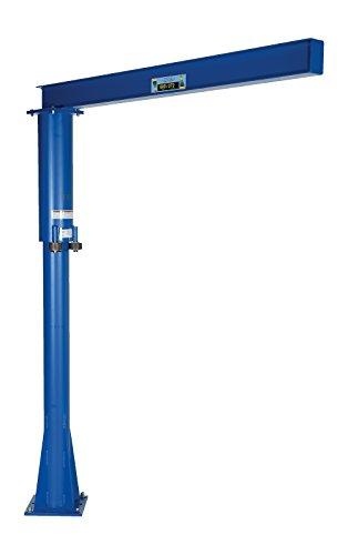 Vestil JIB-FM-6 Steel Fixed Floor Mounted Jib Crane, 600 lb Capacity, Usable I-Beam Length 70