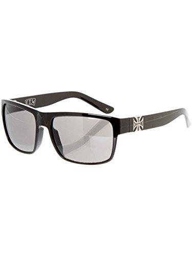 Gafas De Sol West Coast Choppers Wtf Shiny Negro-Smoked (Default , Negro)
