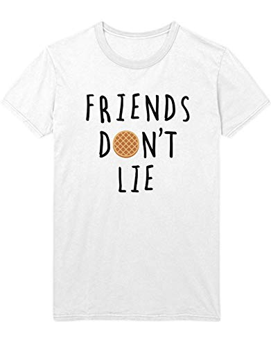 T-Shirt Stranger Friends Don't Lie waffel C000186 Weiß XS