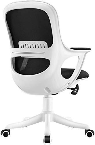 Silla de Oficina, Oficina Silla de la computadora de Escritorio Butaca giratoria de Cuero reclinable Silla ergonómica de Altura Ajustable 360 ° Rotación Sillón