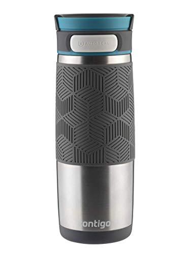 Contigo Thermobecher Transit Autoseal, Edelstahl Isolierbecher, Kaffebecher to go, auslaufsicher, spülmaschinenfester Deckel BPA-frei, 470 ml