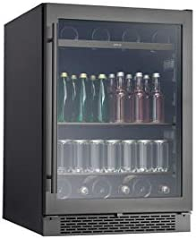 Zephyr PRB24C01BBSG Presrv 24 Inch Single Zone Wine Cooler with 304 grade Black Stainless Glass product image
