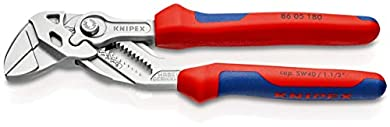 Foto di KNIPEX 86 05 180 Pinza chiave combinazione di pinza e chiave in un unico utensile cromata rivestiti in materiale bicomponente 180 mm