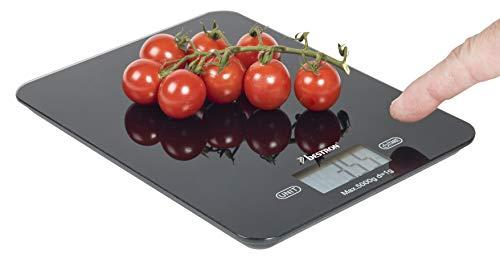 Bestron AKS710Z elektronische Küchenwaage, Schwarz