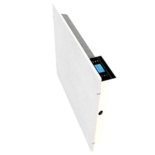 Emerio Speicherstein Heizgerät, SH-122560, perfekte Effizienz aus Infrarot/Konvektor/Heizlüfter, IP24, White Moonstone Design, Wandmontage, 2000 Watt