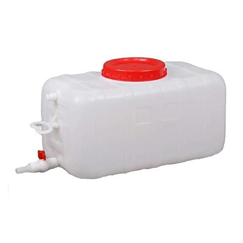 HWhome 25L/50L/50L/110L/150L Bidón Plástico con Grifo Gran Capacidad Depósito De Agua Acampar Contenedor De Agua con Grifo para El Aire Libre Cámping Cuadrado Almacenamiento(Size:50L)