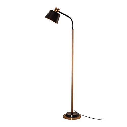 Stehlampen. Stehlampe Einfach amerikanisches Luxus Wohnzimmer Schlafzimmer Stehleuchte Büro-Studien Raum Lesebeleuchtung Vertikale Lichter Piano Licht (Color : A)