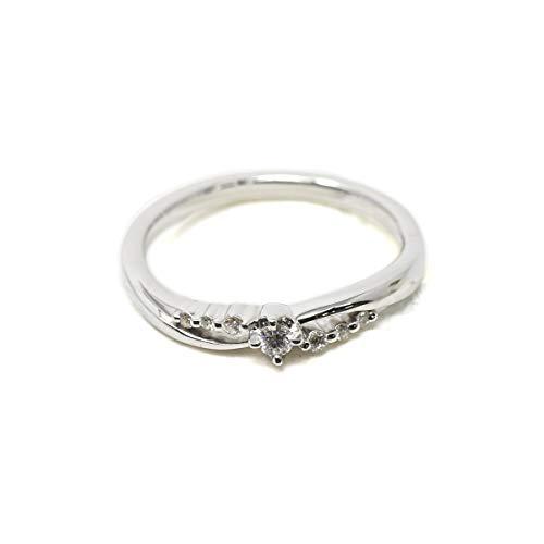 ヨンドシー 4℃ リング 指輪 ピンクゴールド ホワイトゴールド アクセサリー シルバー ジュエリー K10 10金 ダイヤモンド 正規品 新品 111036143103 (ホワイトゴールド, 6号)