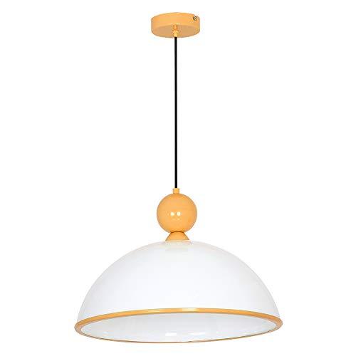 Zeitlose Hängeleuchte in Orange Weiß 1x E27 bis zu 60 Watt 230V aus Kunststoff & Metall Küche Esszimmer Pendelleuchte Hängelampe Pendellampe innen