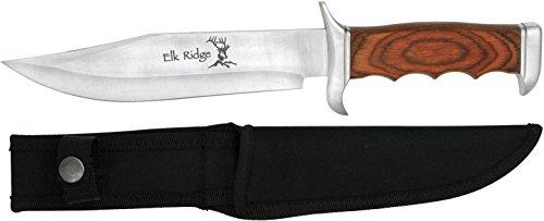 Elk Ridge Couteau d'extérieur Hunter Manche en Bois Longueur Totale cm : 31,75, elkr de 1001