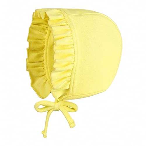 Pesaat Gorro para bebé recién nacido, de algodón suave, para bebés de 0 a 6 meses amarillo 0-6 Meses