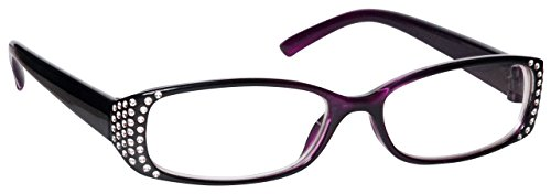 Uv Reader Negro Púrpura Diamonte Estilo Corto De Vista Gafas Distancia Miopía Estilo Diseñador Mujeres Señoras Uvm093P -1,50 50 g