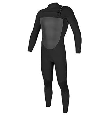 O'Neill Men's O'Riginal 4/3mm Chest Zip Full Wetsuit, Black/Black, Medium Tall