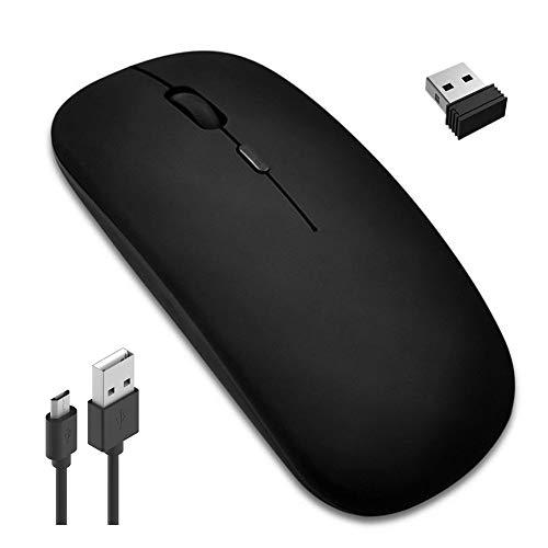 Kabellose Maus, Wireless Mouse, Leise Funkmaus, 2.4GHz Aufladung Funkmaus, Wiederaufladbar, Kabellos Laptop Maus mit USB-Empfänger 3 einstellbare DPI Kompatibel, für PC, Computer, Android, Windows