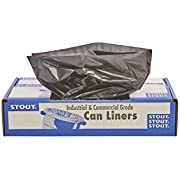 "STOUT by Envision T2424B10 Total Recycled Content Bags, 100% Recyled Plastic, 24"" x 24"", 7-10 gal capacity, 1.0 mil thickness, Brown/Black (Pack of 250)"