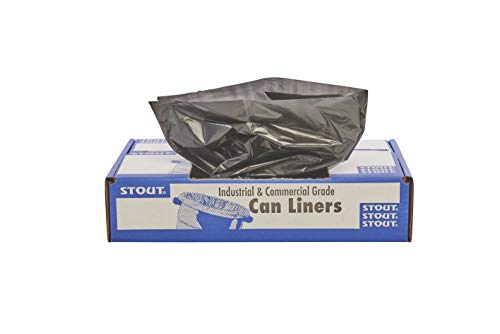 %6 OFF! Stout by Envision Commerical 7-10 Gallon Can Liners - 250 Bags - 1 mil Heavy Duty Industrial...