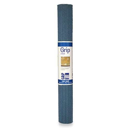 Magic Cover Grip Non-Adhesive Shelf Liner 18-Inch by 5-Feet Country Blue