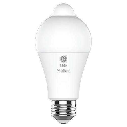 GE Lighting LED+ Motion Sensor Light, A21, Outdoor Light Bulbs, Warm White, 75-Watt Replacement, Security Lights, Motion Detecting, 2-Pack