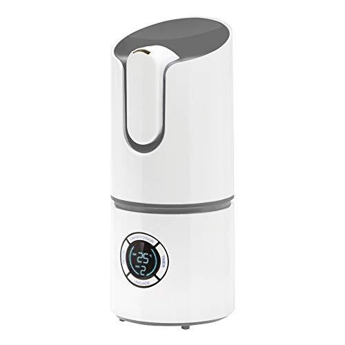 ADLER AD 7957 Luftbefeuchter mit 2,2 Liter Wassertank, für Haus, Büro, Räume, Schlafzimmer, Kinderzimmer, Ultraschall, Arbeitszeit-8 Stunden, Ionisierung, Effizienz 280ml/h, weiß/grau
