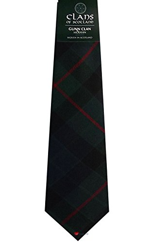 I Luv Ltd Gunn Clan 100% Wool Scottish Tartan Tie