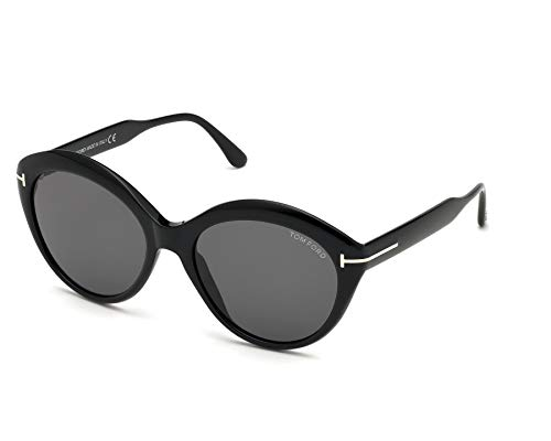 Tom Ford MAXINE FT 0763 BLACK/SMOKE 56/18/140 Dames Zonnebrillen