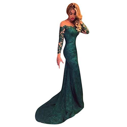 URSING Ballkleider Damen Fashion Etui Mermaid Abendkleider Etuikleider Spitze Abendkleider Hochzeitskleider Winterkleider Lange Elegante Formell Partykleider 2019