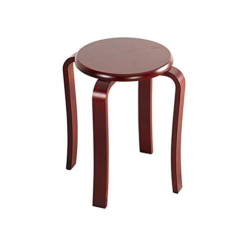 Hocker Massivholz runde Zuhause Wohnzimmer Tisch Holzhocker Mode kreative kleinen Stuhl modernen minimalistischen Bank,Redwood