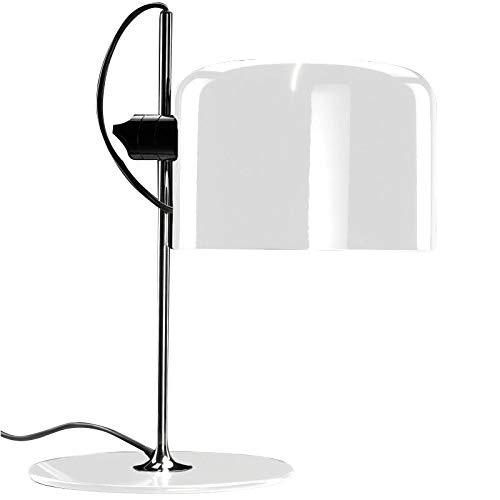 Oluce Coupe Lámpara de mesa blanca diseño Joe Colombo 1967