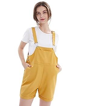 yellow overalls shorts