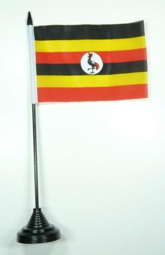 Tischflagge Uganda Flagge Fahne 10 x 15 cm FLAGGENMAE® Tischfahne