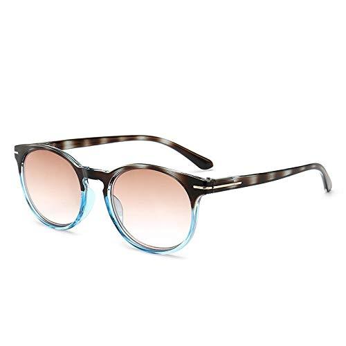 TYJYY zonnebril, zonnebril, leesbril Double Brown, van hars, ultralicht, voor heren en dames